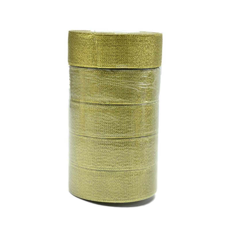 MiHuaGe нейлон упаковка бумажная лента цвета: золотистый, серебристый свадебное праздничное украшение Подарочная коробка полосы 1 см ширина Упаковка бумажная лента