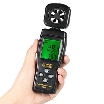 Anemómetro multifuncional, anemómetro LCD, medidor de velocidad del aire, windmeter, herramienta de diagnóstico, medición de temperatura con retroiluminación