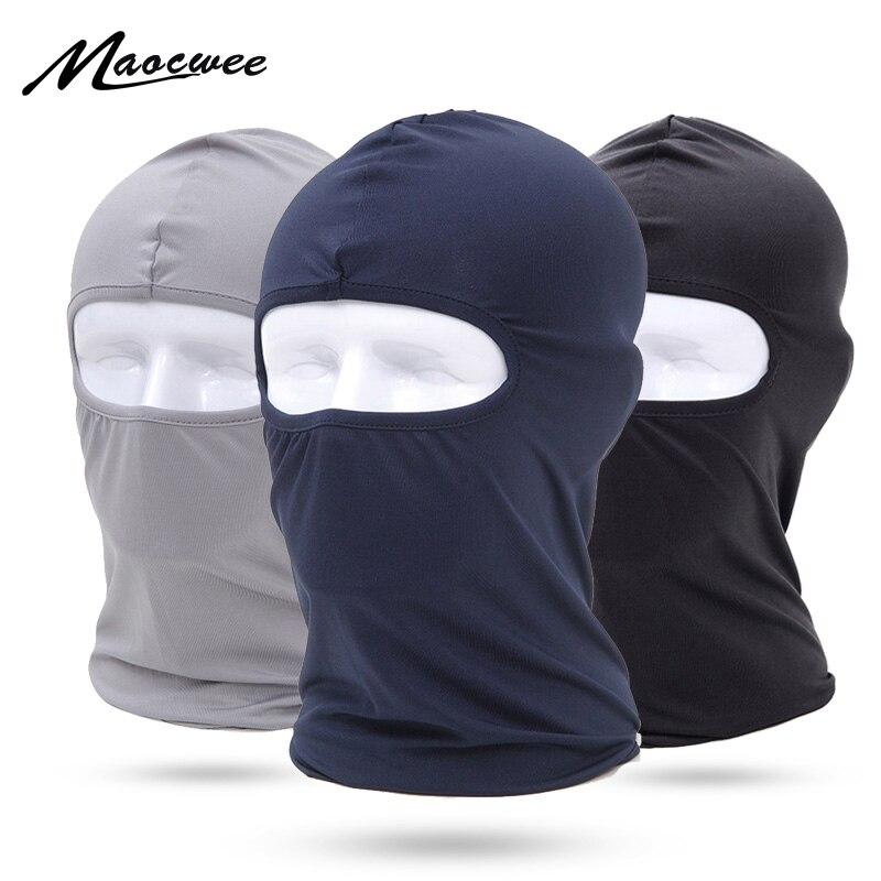 MAOCWEE Comfortable Lycra Balaclava Hat Headwear Face Mask Helmet Inner Cap Winter Ski Motorcycle Veil Full Face Neck Guard Mask