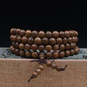 Image 1 - Buddhist 108 Beads Bracelet Meditation Rosary Bracelet Wooden Unique Prayer Beaded Women Men Lucky Bangles Bracciali