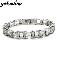 Free Shipping 8 7 8mm HAND CHAIN Mens Bracelet Stainless Steel Bracelet Bike Chain Bicycle Wholesale