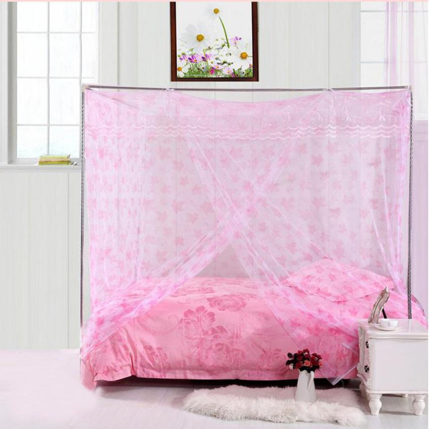 Ouneed Mosquito Net Red maple leaf bed nets Encryption Nets 1.8 m Bed Student Dormitory Mosquito Nets Polyester Fiber tube May 1