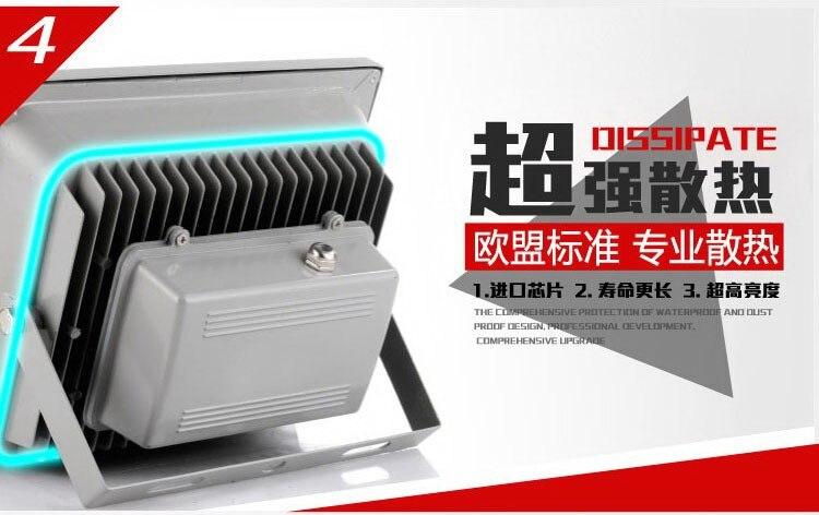 ФОТО 30% OFF 2PCS ultrathin LED flood light 50W Black AC85-265V waterproof IP66 Floodlight Spotlight Outdoor Lighting free shipping
