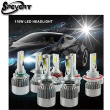 SPEVERT D1S/D3S D2S/D4S H4 H7 H11 H1 H13 H3 9005 9006 9007 LED Car Headlight Bulb Hi-Lo Beam 110W 20000LM 6000K Headlamp 12v 24v
