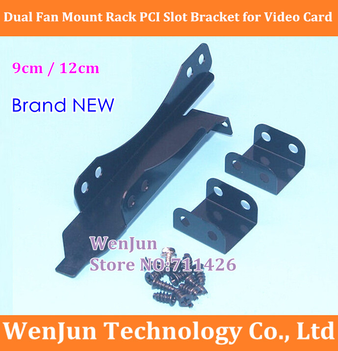 Best Price 90mm / 120mm Dual Fan Mount Rack PCI Slot Bracket For Video Card DIY Support 9cm / 12cm Fan With Free Shipping