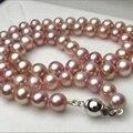 Estilo de la moda AA 8-9mm natural rosa cultura akoya perla collar de la joyería 18 pulgadas YE2097