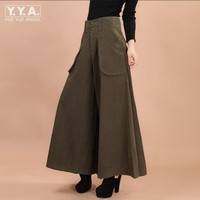 Women Military High waisted Wide Leg Harem Pants Cotton Blend Loose Trousers Full Length Trouser Female Clothing Plus Size M 9XL