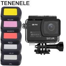 ספורט מצלמה מסנן על עמיד למים מקרה דיור עבור Sjcam SJ8 פרו/בתוספת/אוויר UV קיטוב צבע צלילה מצלמה אביזרי מסנני