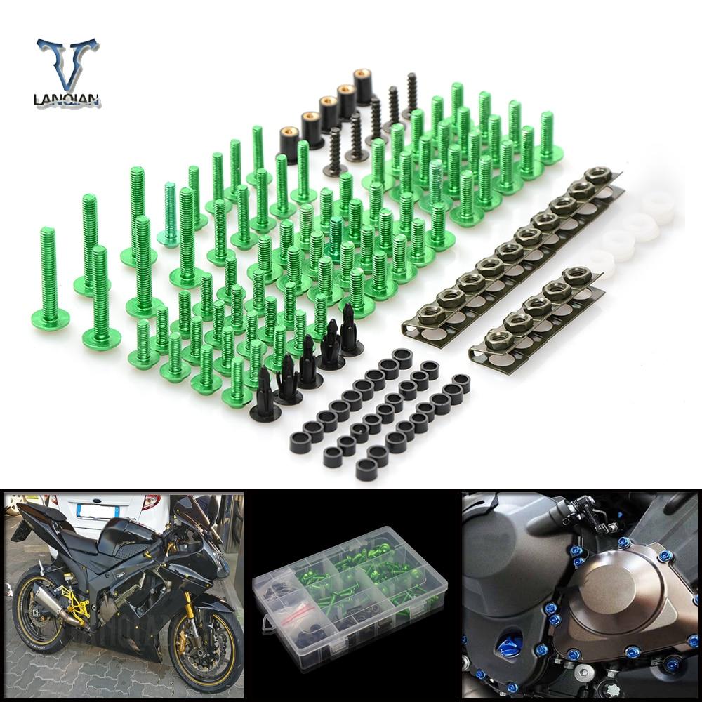 CNC Universal Motorcycle Fairing/windshield Bolts Screws set For Kawasaki zx1400 zx14r zzr1400 z1000 gtr 1400 gtr1400 concours