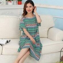 1283dd4304 Mom Loose Cotton Nightgown Sleeveless Shoulder Casual Club Home Women  Sleepwear Vestido Size 2019 Spring Top