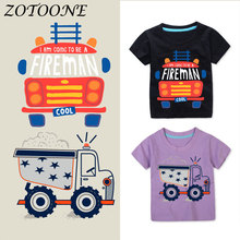 ZOTOONE Biker Tactical Military Car Heart Iron on Transfers Patch for Children's Clothing Patches Applique Sticker on Clothes E цена
