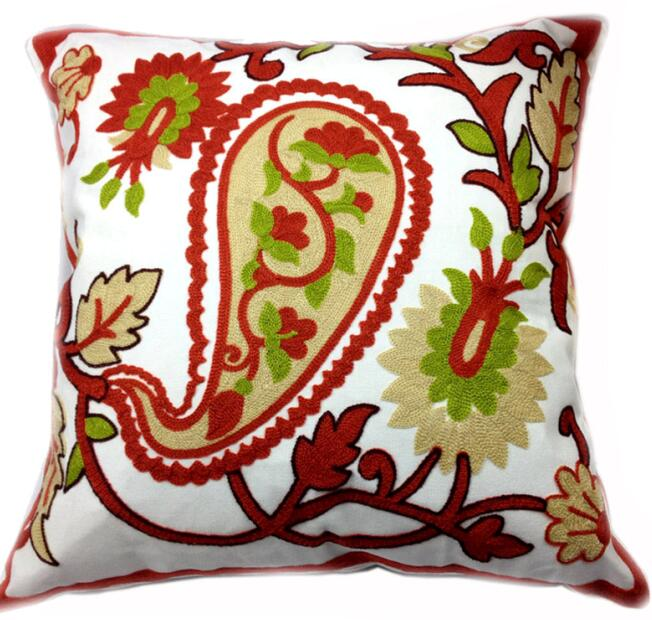 Wondrous Us 8 48 33 Off Decorative Paisley Cotton Cushion Cover Sqaure Canvas Crewel Embroidery For Wedding Sofa Chair Outdoor Throw Pillow Case In Cushion Bralicious Painted Fabric Chair Ideas Braliciousco