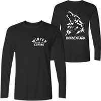 Game Of Thrones Long Sleeve T Shirt Men Funny Tshirt With Five Games Style In Fashion
