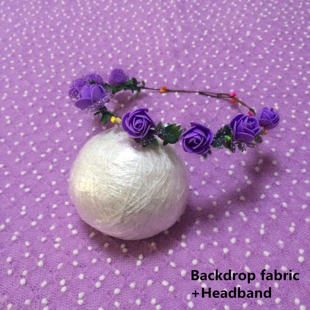 Backdrop fabric+headband