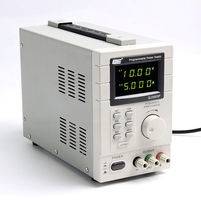 US $112 5 10% OFF|QJ3005P Programmable Linear Type Variable Regulated DC  Power Supply 30V/5A-in Voltage Regulators/Stabilizers from Home Improvement