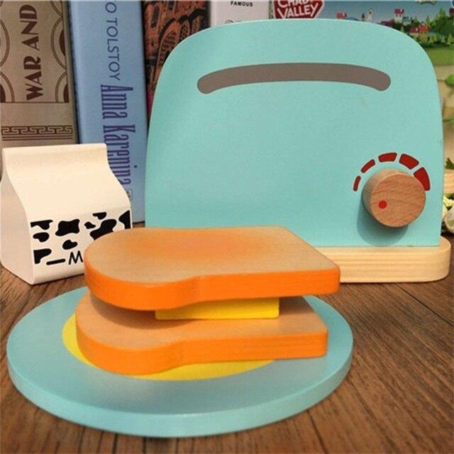 MWZ Kinder Holz Frühstück Täuschen Spiel küche Toaster Spielzeug für ...