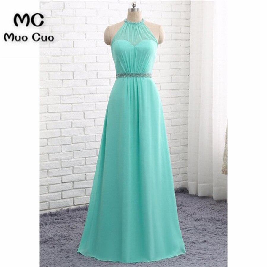 Elegant 2018 Aqua Prom Dresses Long with Crystals Beaded Chiffon ...