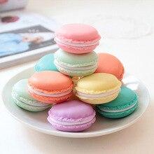 6 pcs/Lot Mini clips dispenser Macaron storage box Candy organizer for eraser zakka Gift Stationery Office school supplies