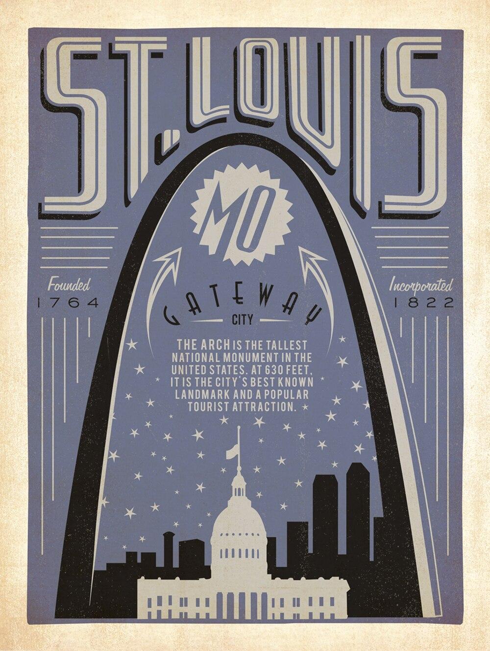 US Capital Washington Vintage Travel Poster Classic Retro Kraft - Us travel map poster