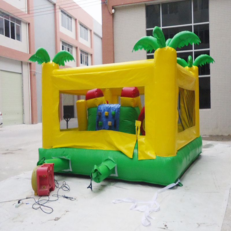 Commercial Jungle Inflatable Bounce House Bouncy Castle Jumping Castle With  Repair Kit And Blowers