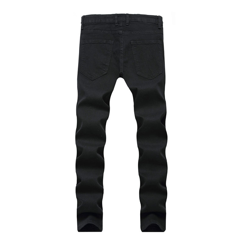 Men\`s Ripped Jeans With Embroidery Stretch Skinny Biker Flowers Rose Embroidered Jeans Pants Fashion Designer Men Trousers (8)