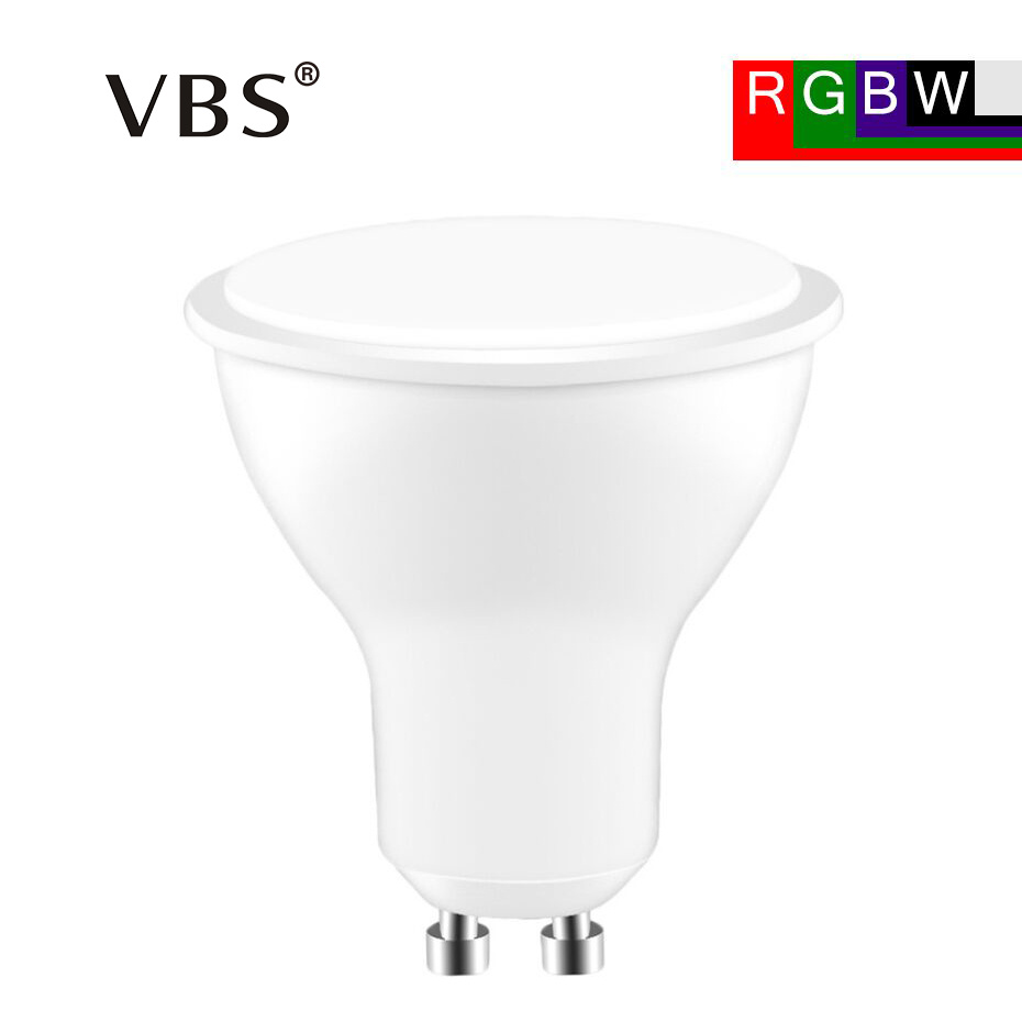 GU10 LED Bulb 8W RGBW RGBWW 85-265V Dimmable Wireless High luminous LED flux Lamp+24 Key Remote Control Spotlight home lighting zigbee bridge led rgbw 5w gu10 spotlight color changing zigbee zll led bulb ac100 240v led app controller dimmable smart led
