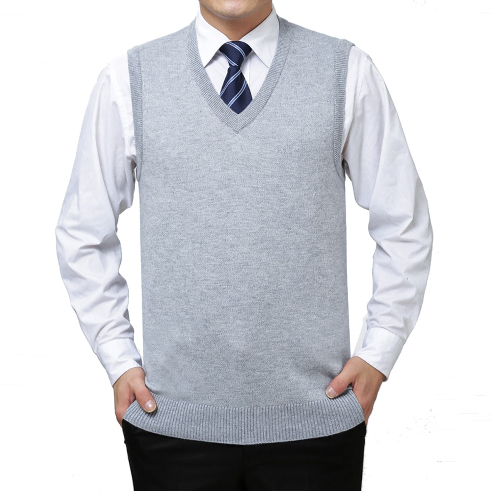 New Cheap Mens Winter Warm Knitted Sweater Wool Vest Cashmere ...