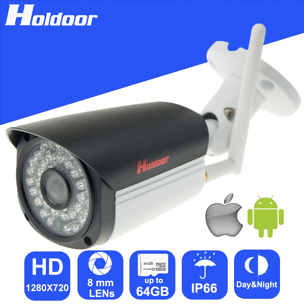 Wireless 720P HD 8mm Lens Security surveillance P2P Outdoor Metal Shell Camera IR Cut Night Vision Motion Detection Alarm hd cvi camera systems 1 0mp 720p 42pcs ir led 2 8 12mm lens security camera system outdoor night vision camera surveillance