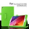 Para Asus ZenPad S 8.0 Z580 8 polegada Tablet caso Litchi capa de couro PU para Asus Z580C Tablet escudo protetor fino FreeShipping