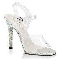 New custom made 2018, diamond heels, 12 cm sexy model runway shoes, pole dancing shoes