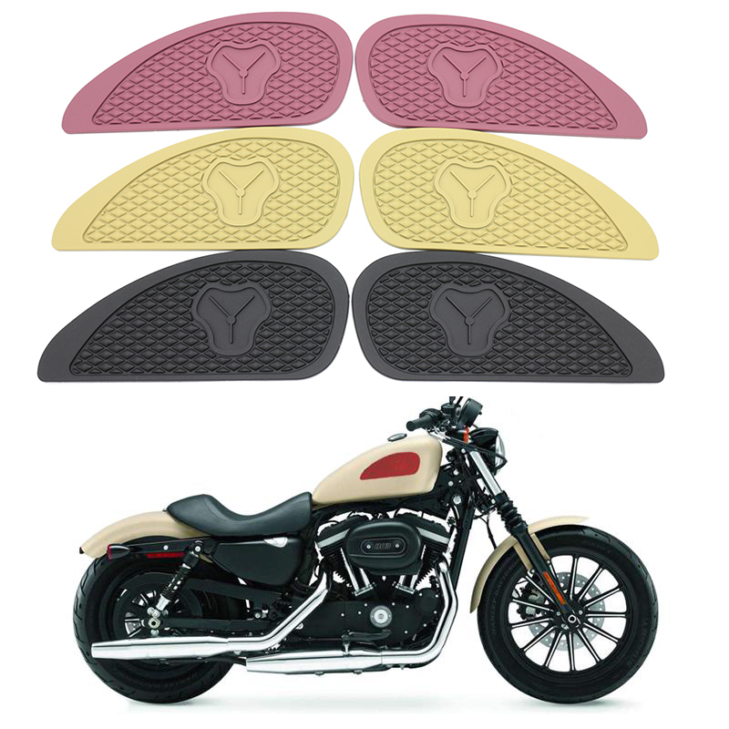 1 Pair Retro Motorcycle Cafe Racer Gas Fuel Tank Rubber Stickers Pad Protector Sheath Knee Grip Protector
