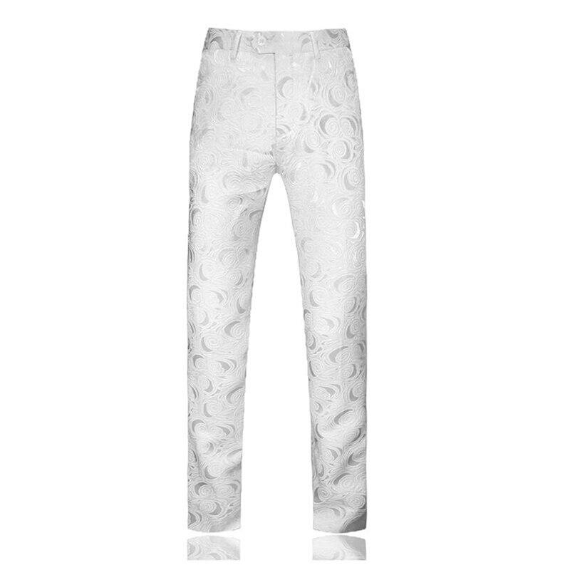 White Men Suit Pants Large Size 5xl Wedding Party Mens Trousers 2020 Autumn Pants Men