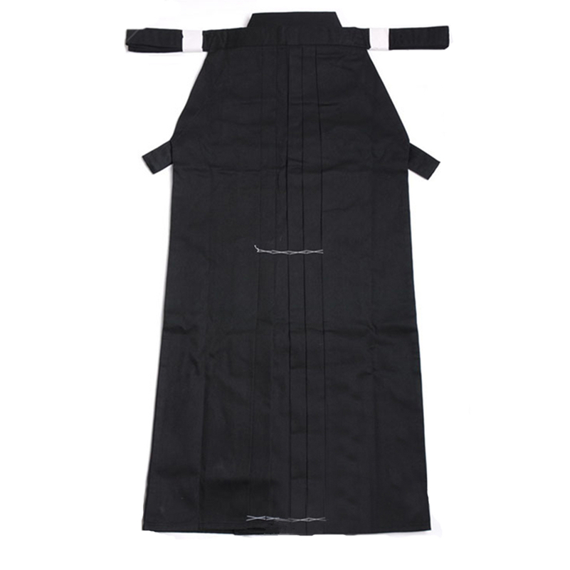 Aikido Gi Uniform Cotton Hapkido Pants Kendo Hakama Black Japanese Samurai Traditional Mens Women Kids Keikogi Adult