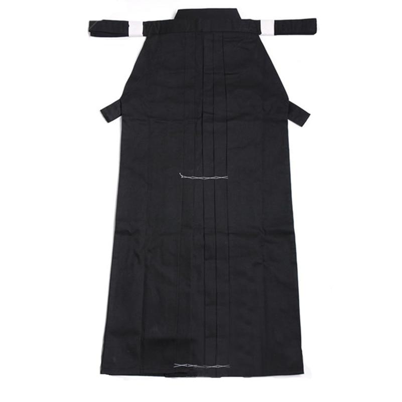 Aikido Gi Uniform Cotton Hapkido Pants Kendo Hakama Black Japanese Samurai Traditional Mens Women Kids Keikogi Adult