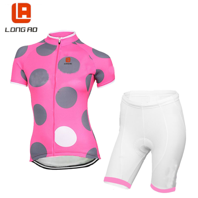 LONG AO  Womens Italy Cycling Clothing Set Ropa De Camisa Ciclismo Classic Short Sleeve Bike Clothing Sport Jerseys Cycling Set
