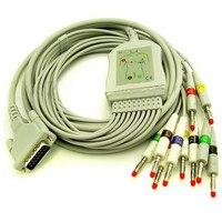 Free Shipping Schiller 10 Lead ECG/EKG Cable Banana 4.0mm AT3 AT6 CS6 AT5 AT10 AT60 IEC Standard use