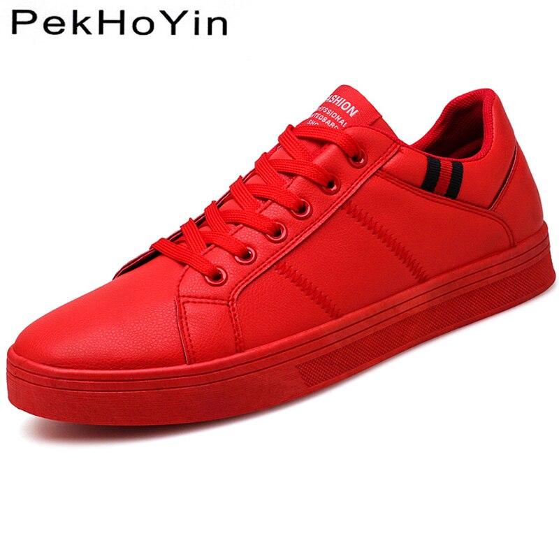 Brand Autumn Men Casual Shoes Fashion Sneakers Leather Footwear Soft Rubber Men Flats Shoes White Mens Shoes Sales Flat Designer