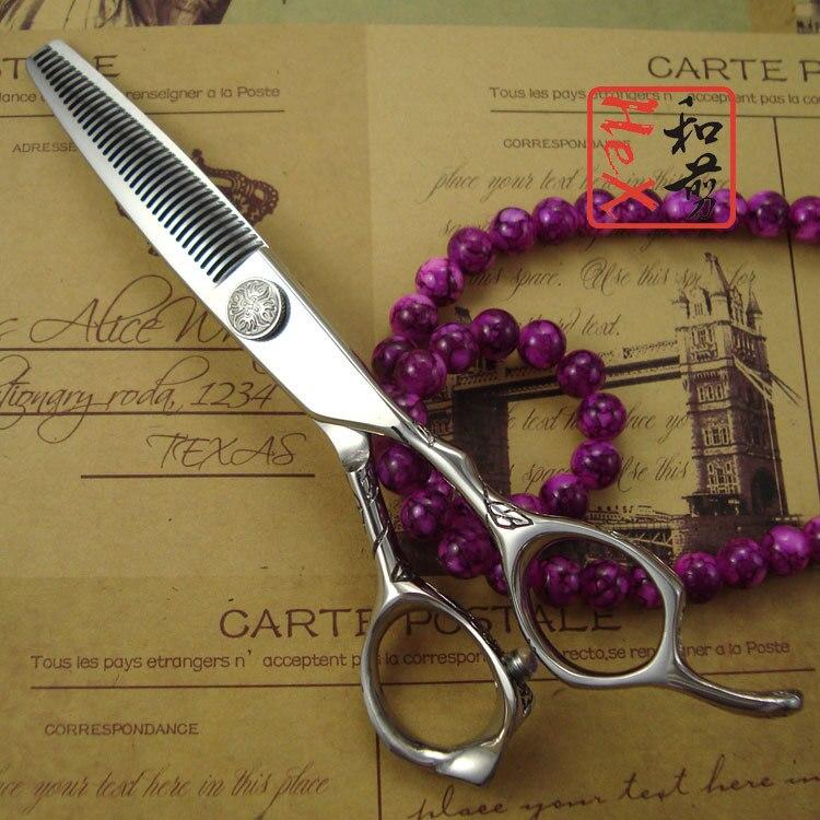 Высокое качество японской 440C Professional Hair Текстурирующая и истончение ножницы 5.5 /6 эргономичный роза ручка с 10 т/ 16 т/35 т