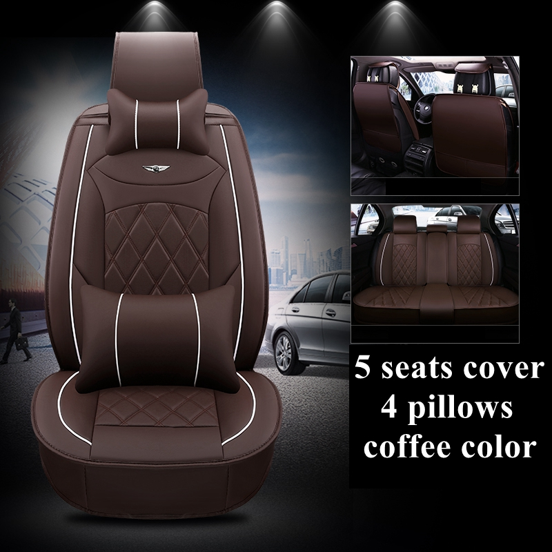 Eco-leather black//beige Car seat covers fit VOLVO XC60