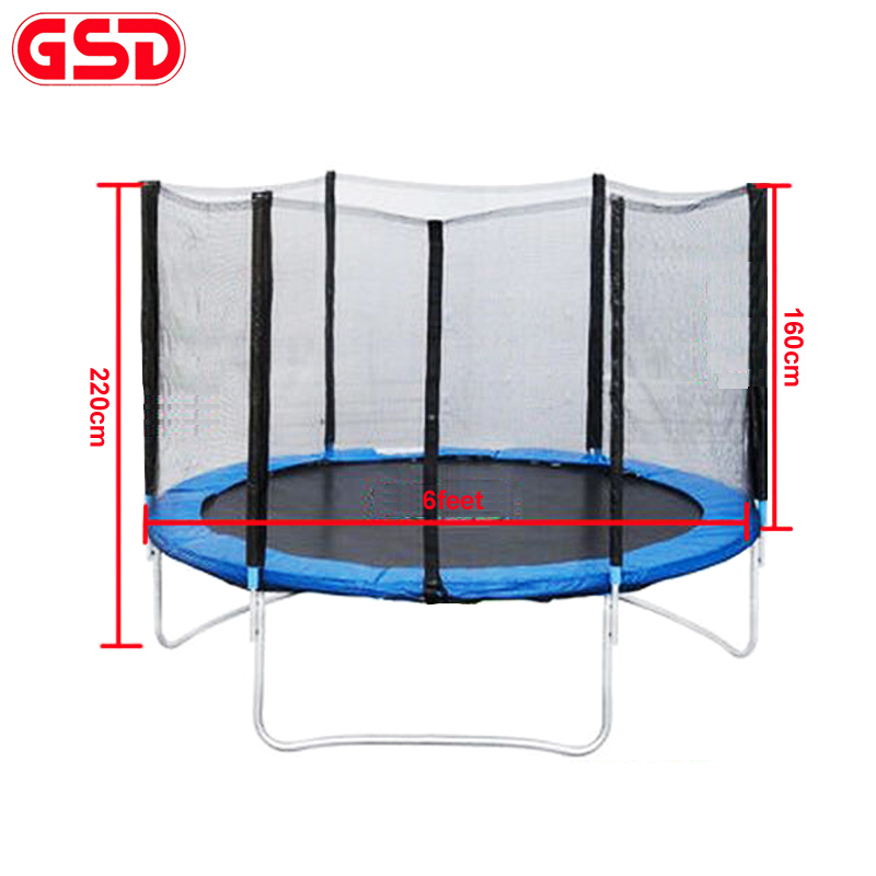 GSD High quality 6 Feet <font><b>Trampoline</b></font> with SafetyNet Fits and ladder jump safe net TUV-GS CE EN71 were approved
