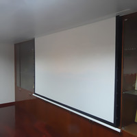 120 16 9 Recessed Ceiling Electric Projector Screen Built In Projector Inceiling Screen With Fiberglass RF