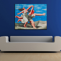 PICASSO Classic Abstract Art Women Running Coast Canvas Oil Painting Wall Picture Home Decor Living Room No Frame