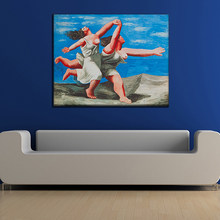 PICASSO Classic Abstract Art Women Running Coast Canvas Oil Painting Wall Picture Home Decor Living Room No Frame(China)