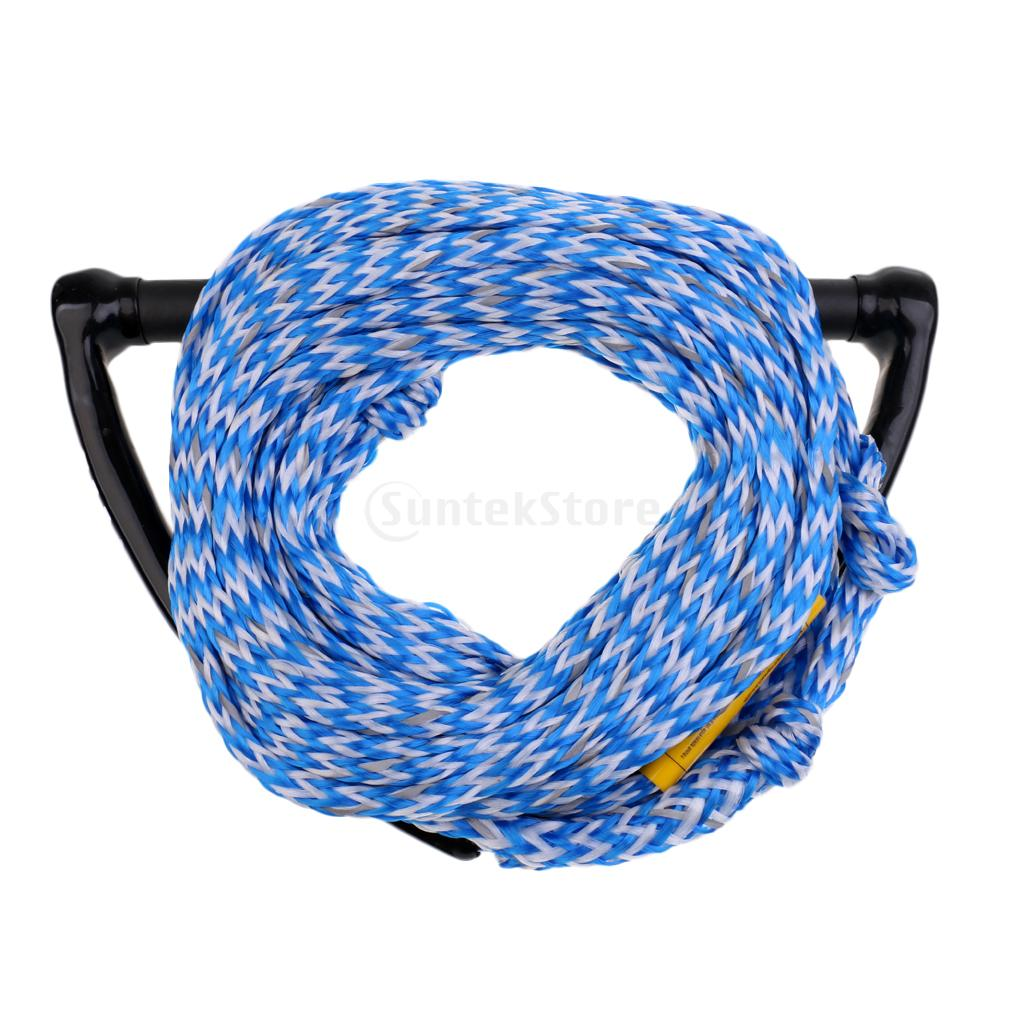 """Safety 23m/75ft 2200lb 1 Section Water Ski Rope Tow Harness Leash Cord Line  &15"""" EVA Handle Grip for Wakeboard Kneeboard Surfing-in Surfing from Sports  ..."""