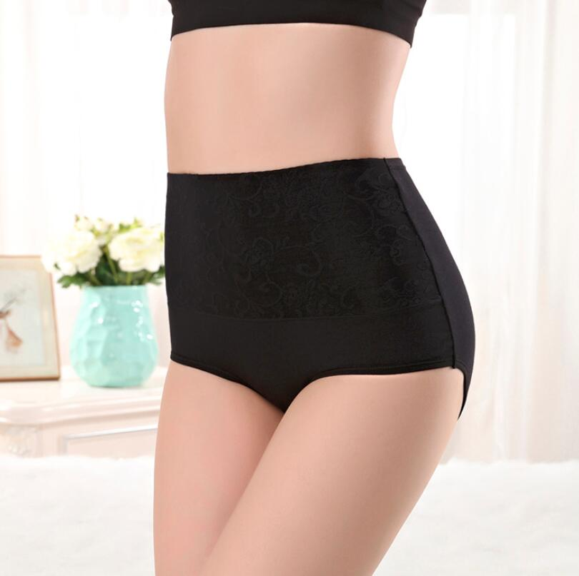 Free Shipping Ms non-trace modal in the waist lace briefs tall waist sexier than cotton SIZE M L-XXXL #7177R1