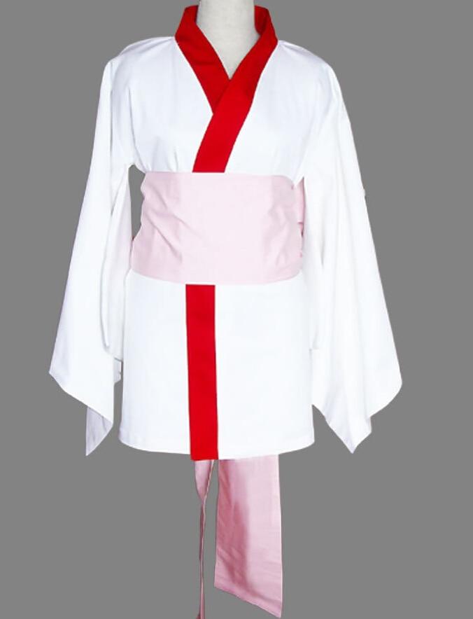 New Anime Binchotan Cosplay Clothing Girls White Kimono High Quality Girly Style Any Size for Cosplay MR046