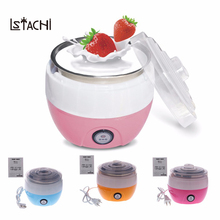 LSTACHi Mini Automatic Yogurt Maker 360 Degree Stereo Fermentation Stainless Steel Machine Liner Making DIY Tool Container