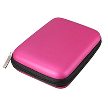 2016 Shockproof Red Portable Zipper External 2.5 HDD Bag Case Pouch For Protection For 2.5 GPS Hard Disk Drive Cover