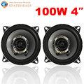 2pcs! 4 Inch 10cm Auto Car Coaxial Loud Speaker Tweeter Mid Woofer Loudspeaker Dual-Cone 200W
