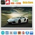 10 дюймов Телефонный звонок tablet pc Окта основные 4 ГБ RAM 32 ГБ ROM 1280*800 Две Камеры Android 5.1 10.1 дюймов 3 Г WCDMA таблетки